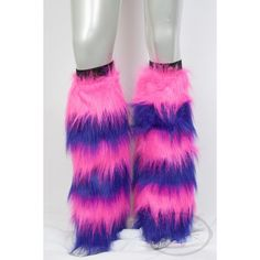 Cheshire Cat Leg Fluffies! PINK PURPLE Fluffies, Furry Legwarmers for... (£31) ❤ liked on Polyvore featuring costumes, purple costume, cat costumes, purple halloween costumes, pink costume and role play costumes
