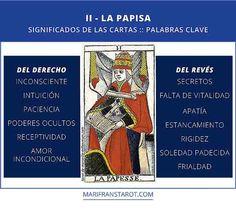 Palabras clave La Papisa. Significados de las cartas de Tarot. La Papisa del derecho y invertido #Tarot #La Papisa #aprendeTarot #crecimientoPersonal #coaching