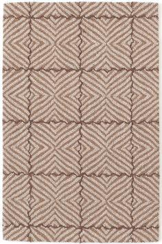 Dash & Albert | Nigel Brown Micro Hooked Rug | Make a neutral statement with our geometric wool hooked area rug in shades of brown and grey.