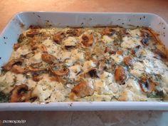 Pyszny kalafior i brokuł zapiekany z pieczarkami