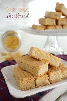 ginger shortbread Double ginger shortbread - Biscotti al doppio zenzero Biscotti Cookies, Galletas Cookies, Cake Cookies, Cooking Cookies, Macarons, Italian Cookies, Sweet Cakes, Shortbread, Italian Recipes