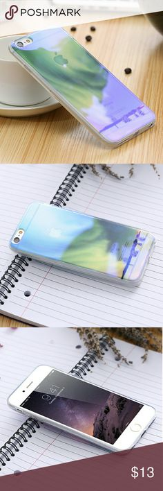 Northern lights IPhone6 cover Clear Iphone6 covers, never used-! Accessories Phone Cases