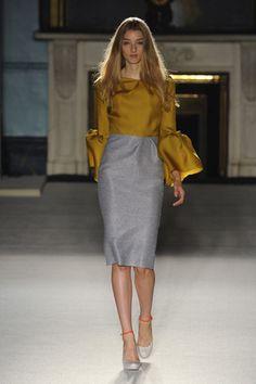 Roksanda Ilincic Lantern-Sleeve Color-block Dress Profile Photo