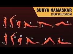 How to Do the Sun Salutation; Learn how to do the sun salutation.Morning yoga poses to boost energy and have a positive outlook. Gym Workout For Beginners, Yoga For Beginners, Learn Yoga, How To Do Yoga, Surya Namaskar, Yoga Nidra, Kundalini Yoga, Toning Workouts, Morning Yoga
