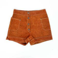suede shorts XS/S hippie leather daisy dukes AS IS ($38) ❤ liked on Polyvore featuring shorts, bottoms, pants, orange, micro shorts, daisy shorts, checkered shorts, leather hot shorts and suede shorts