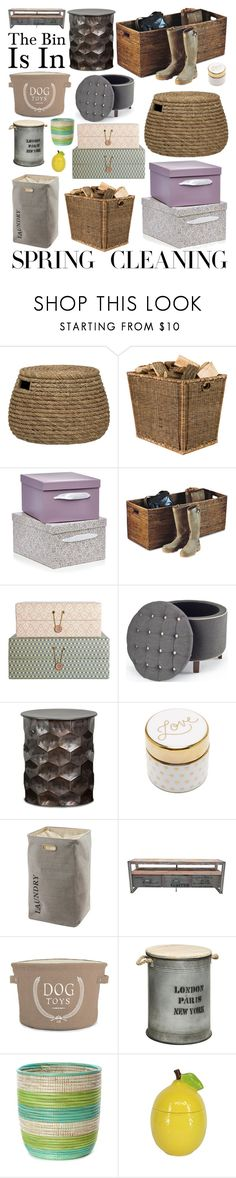 """""""The Bin Is In"""" by creation-gallery on Polyvore featuring interior, interiors, interior design, home, home decor, interior decorating, Crate and Barrel, OKA, Aquanova and Pottery Barn"""