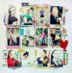 Great year in review layout by Jill Sprott! Love this for inspiration for project life