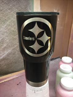 Pittsburgh Steelers Custom Powder Coated Cups! No Stickers No Vinyl! 100% Powder Coat! Need a Cup, Hit me Up! The Cup Plug!