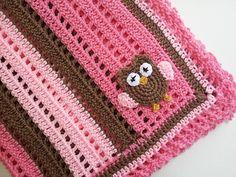 Ravelry: Crochet Baby Owl Blanket pattern by Michele Gaylor. - so cute!