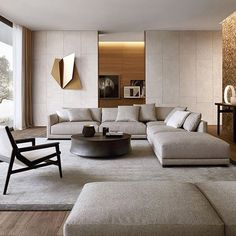 45 Modern Industrial Interior Design Living Room Décor Ideas - HOMYFEED In every age, furniture is made for the same basic purposes. Tables, desks and workbenches provide space for work or … Living Room Modern, Living Room Interior, Home Living Room, Living Room Contemporary, Living Area, Luxury Living Rooms, Elegant Living Room, Contemporary Interior Design, Cozy Living