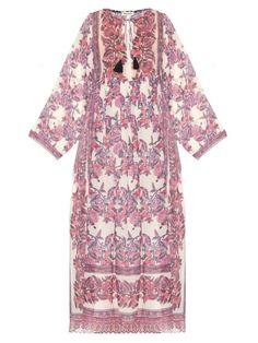 Masscob Floral-print cotton and silk-blend dress