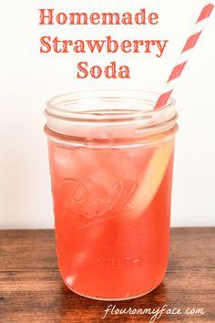 Sweet and refreshing easy homemade Strawberry Soda