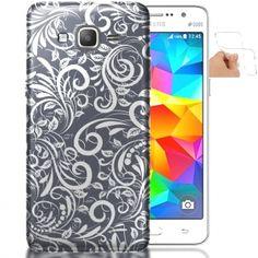 Coque Samsung Galaxy Grand Prime Pastel Floral Ardoise | Housse Silicone. #HeroISL #GrandPrime #coquetelephone #Samsung
