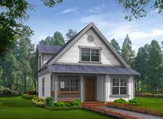 Find your dream cottage style house plan such as Plan which is a 1000 sq ft, 2 bed, 2 bath home with 0 garage stalls from Monster House Plans. Cottage Style House Plans, Cottage Style Homes, Country House Plans, Small House Plans, House Floor Plans, Small Lake Houses, Tiny Houses, Monster House Plans, Cabin Plans
