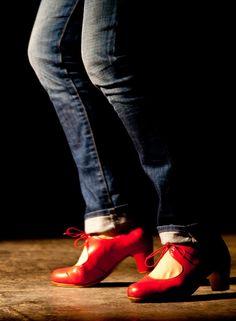 Red Flamenco Heels