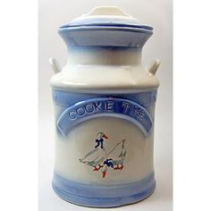 Vintage Ceramic Cookie Time Cookie Jar