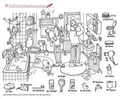 bauernhof-wimmelbild | malvorlagen-ausmalbilder