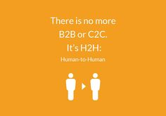 "Quote - ""There is no more B2B or C2C. It's H2H. Human to Human.""  Everyone's connected, but no one is connecting. Add a human element to your CRM. Learn how: http://buff.ly/1APTDQA  #human #marketing #thought #truth #B2B #internet #inspiration"