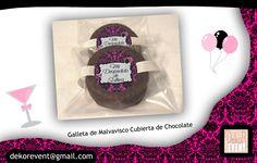 """Etiquetas Personalizadas Galleta de Malvavisco cubierta de Chocolate Marca """"Mamut"""""""