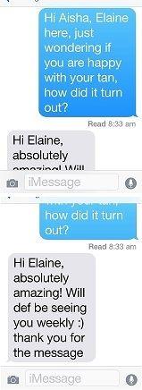 SMS Testimonial