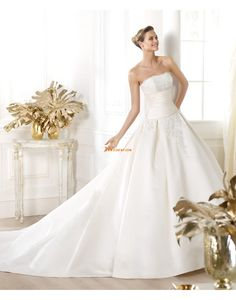 Satin Elegant & Luxurious Winter Wedding Dresses 2014