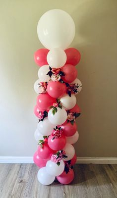 Balloon Tower, Balloon Backdrop, Balloon Columns, Balloon Garland, Balloon Ideas, Simple Birthday Decorations, Birthday Balloon Decorations, Birthday Balloons, Mothers Day Balloons