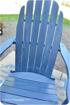 and then, she {snapped}: how to paint adirondack chairs