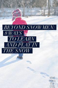 Alternative fun and educational activities using SNOW!