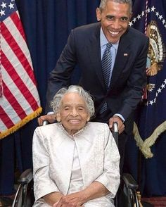 President Obama and Dr. Olivia Hooker, the first African-American woman to have entered the U. Coast Guard, which she did in February She is also a retired psychologist and professor. Black History Month, Black History Facts, African American Culture, African American Women, African Americans, Native American, Barack Obama, Presidente Obama, Vintage Black Glamour