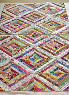 Quilternity's Place: Scrappy String Quilt