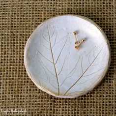 Clay Dish Jewelry Holder With Leaf Imprint - Crafts Unleashed