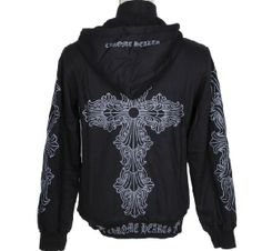 Cross Silver Grey Hoodie Chrome Hearts Jacket Cheap Color: Black. Brand: Chrome Hearts. Chrome Hearts Silver Grey Cross Hoodie Jacket. Big Silver Grey Cross on center back. Multi small signature cross on both sleeves. http://www.chromeheartsonlineoutlet.com/