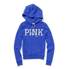 Victoria'S Secret Signature Zip Hoodie featuring polyvore, women's fashion, clothing, tops, hoodies, jackets, pink, women, pink hoodies, zipper hoodies, zip hoodies, graphic hoodie and zip hoodie