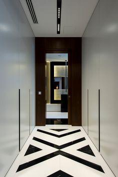 Modern Interiors, Modern Interior Design, Modern Floor Tiles, Contemporary Hallway, Marble Interior, Border Tiles, Tile Layout, House Front Design, Floor Patterns