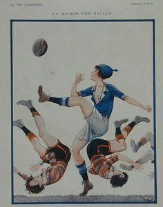 Picture from 1924 in an edition iof La Vie Parisienne magazine. Women's Rugby