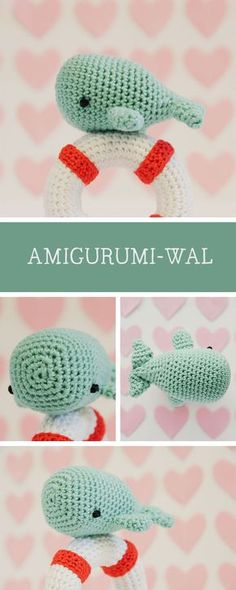 Kostenlose DIY-Anleitung: Amigurumi-Wal mit Rettungsring / free crochet pattern: amigurumi whale with lifebelt