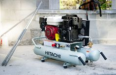 Need bigger air? Check out what our Pro crew has to say about the Hitachi 8-Gallon Gas Powered Wheelbarrow Air Compressor  #HitachiPowerTools #Hitachi #aircompressor #framing #roofing #compressor #tools #construction #renovation #remodeling #pneumatic   https://www.protoolreviews.com/tools/air/compressors/hitachi-8-gallon-gas-powered-wheelbarrow-air-compressor/27875/