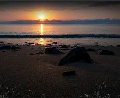 Coucher de soleil sur la plage de Moriani au Camping Corse 4 étoiles Merendella