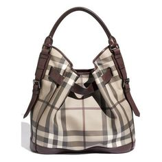 fashion / Burberry 'Smoked Check' Hobo ($1,195) ❤ liked on Polyvore ❤ liked on Polyvore