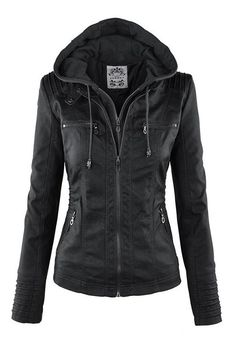Black convertible biker jacket                                                                                                                                                                                 More