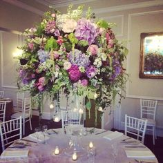 Wedding flowers table centre pieces