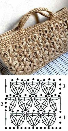 26 beautiful crochet bag designs and graphics - Bolsas crochê - . 26 beautiful crochet bag designs and graphics - Bolsas crochê - # crochê # Häkeltasche Always. Crochet Stitches Patterns, Crochet Motif, Crochet Baby, Knit Crochet, Crochet Designs, Knitting Patterns, Crochet Handbags, Crochet Purses, Diy Sac
