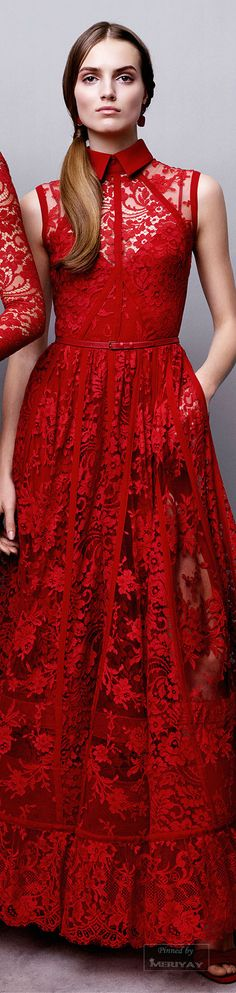Elie Saab Pre Fall 2015 To see the collection go to Style That's the Haute Stream. Elie Saab, Red Fashion, Runway Fashion, Fashion Dresses, Beautiful Gowns, Beautiful Outfits, Dream Dress, Pretty Dresses, Bunt