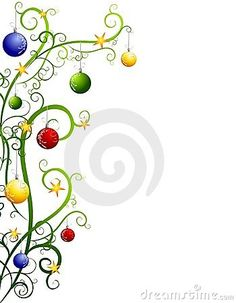 Abstract Christmas Tree Border With Ornaments by Madartists, via Dreamstime