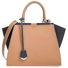 Fendi '3Jours' Bicolor Leather Shopper