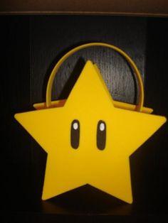 Cool way of doing the mario star hand bag; all felt
