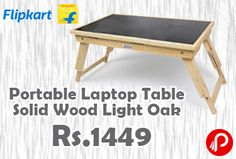 Flipkart is offering 23% off on Ekta Product Solid Wood Portable Laptop Table (Finish Color – Light Oak) at Just Rs.1449. 21″x12″x9″inch, Adjustable height, Tilting top at 4 angles, Folding Multi use Table. You can also tilt the table top in 4 different angles to suit your needs.  http://www.paisebachaoindia.com/portable-laptop-table-solid-wood-light-oak-at-rs-1449-flipkart/