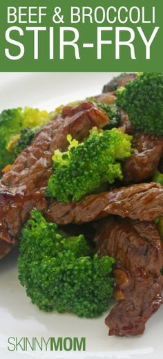 Skinny Beef and Broccoli Stir Fry: low calorie, low fat, and high protein!