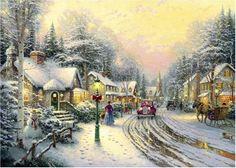 Thomas Kinkade Gibsons Puzzle - Village Christmas (1000 p…