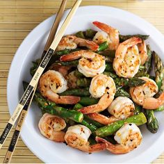 """Shrimp and Asparagus Stir Fry with Lemon Sauce by @homecookmemory  Follow @homecookmemory and visit her blog for more recipes! Link on her bio.  Ingredients  4 tablespoons olive oil, divided 1 pound large raw shrimp, peeled & deveined 1 pound asparagus, ends trimmed and each stalk cut into 2-3"""" pieces ½ teaspoon salt, divided 1 teaspoon minced ginger (Gourmet Garden Ginger Paste) 1 teaspoon minced garlic Lemon Sauce ⅔ cup chicken stock 1 tablespoon cornstarch 1 tablespoon sugar 1 tablespoon…"""